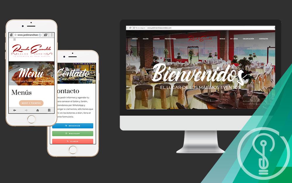 Diseño de Páginas Web Chalco - Salón y Jardín Rancho Escondido